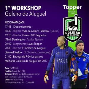 1º WORKSHOP DO GOLEIRO DE ALUGUEL - FATO Agenda 724111639c0a5