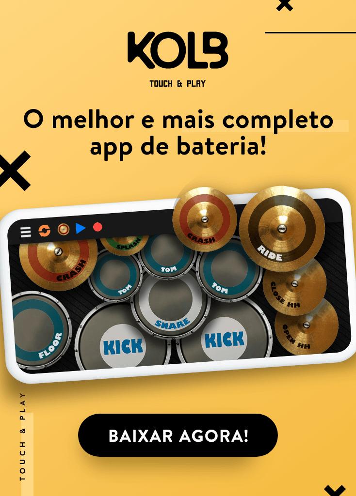 Clique na imagem, baixe o app REAL DRUM e divirta-se!