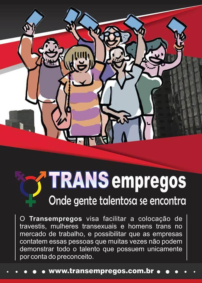 O site TRANSEMPREGOS tem abrangência nacional e visa facilitar a colocação de travestis, mulheres transexuais e homens trans no mercado de trabalho!